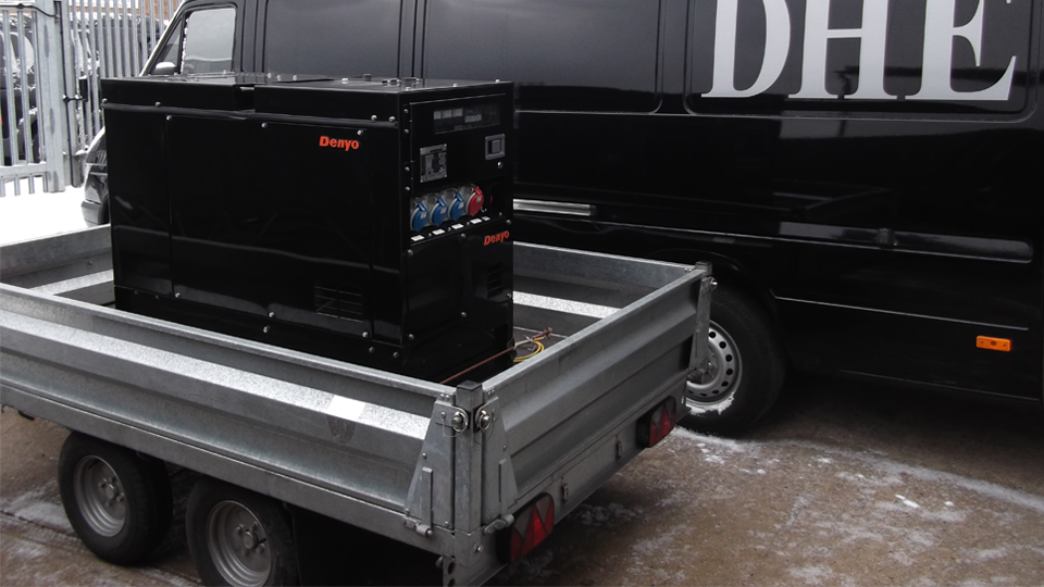 Bedfordshire Stage Hire 12.5KVA Super Silent Road Towable Diesel Generator